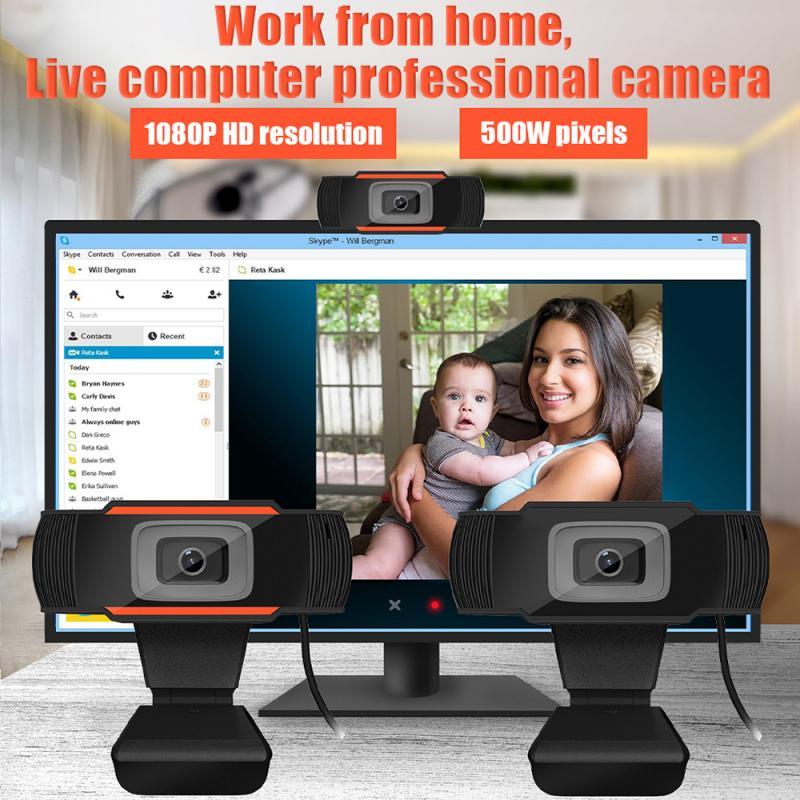 Webcam USB 2,0 PC Cámara 720P 1080P Video registro HD Webcam Web cámara con micrófono para ordenador para PC Laptop Skype MSN