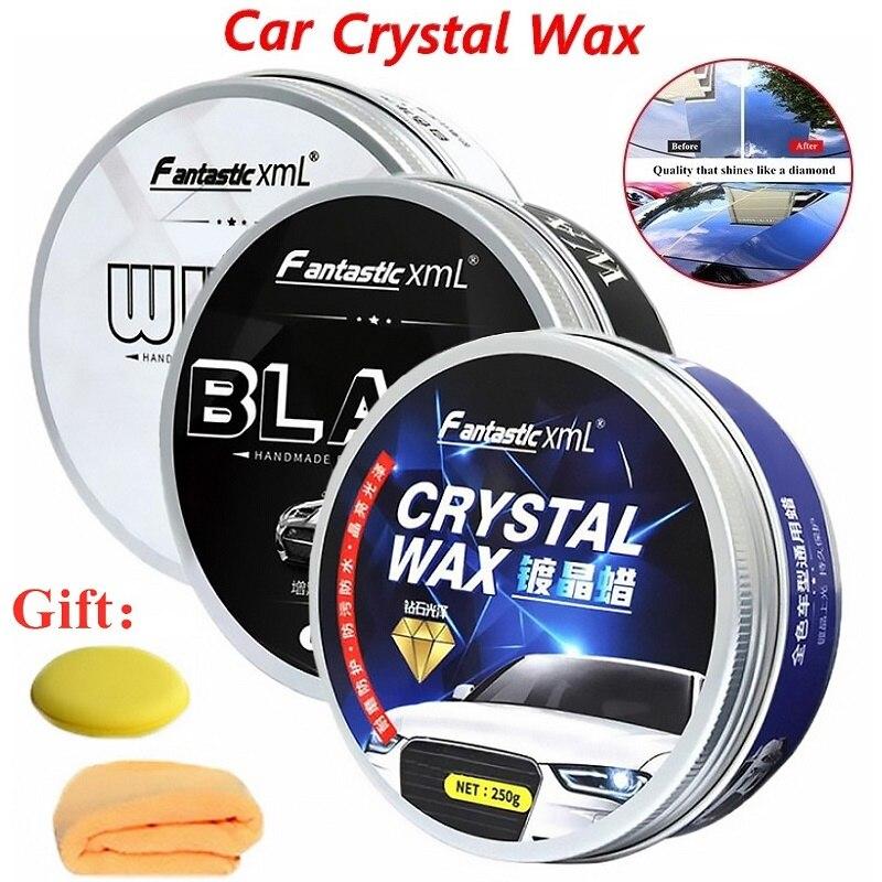 250g Car Wax Crystal Plating Set Care Car Polish Scratch Remover Polishing Cars Repair Waterproof Maintenance Film Polish Wax