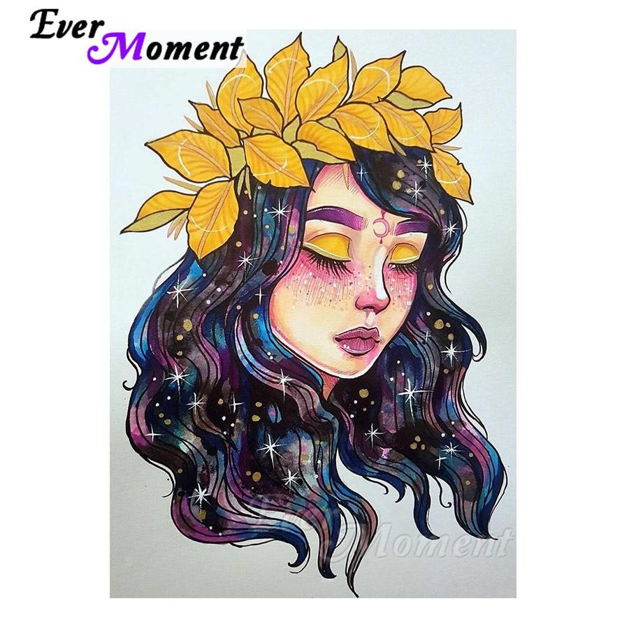 Ever instant-لوحات ألماس للفتيات اللامعة ، DIY ، أحجار مربعة كاملة ، هوايات ، مشغولات يدوية ، فن تزيين المنزل ، 4Y970