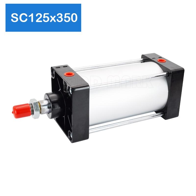 Imán opcional SC125 * 350 envío gratis cilindros de aire estándar 125mm de diámetro 350mm de carrera simple varilla neumático de doble acción