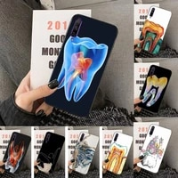 dentist tooth pattern phone case for huawei y5 y62019 y52018 y92019 luxury funda case for 9prime2019