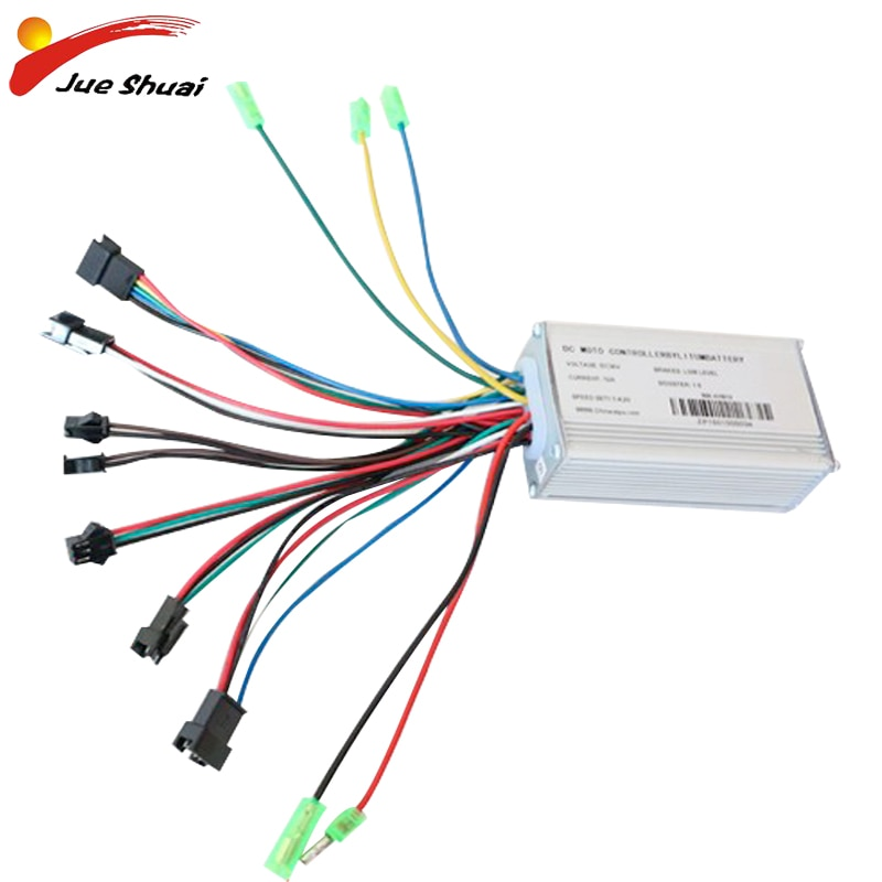Controlador de bicicleta eléctrica sin escobillas DC36V, controlador LCD/LED, 250W/350W/500W, accesorios para...