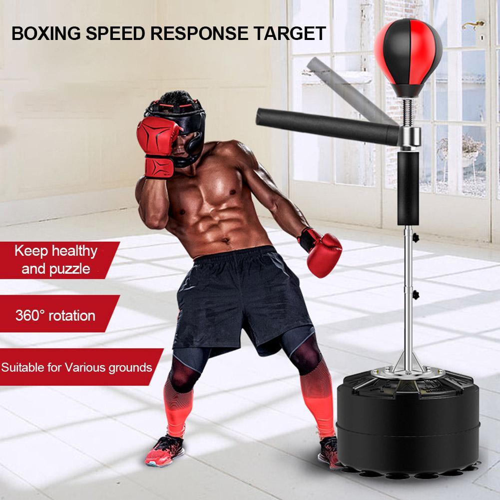 Saco de boxe profissional saco de boxe pesado suporte saco de boxe com equipamento de boxe da aptidão da barra do reflexo de 360 graus
