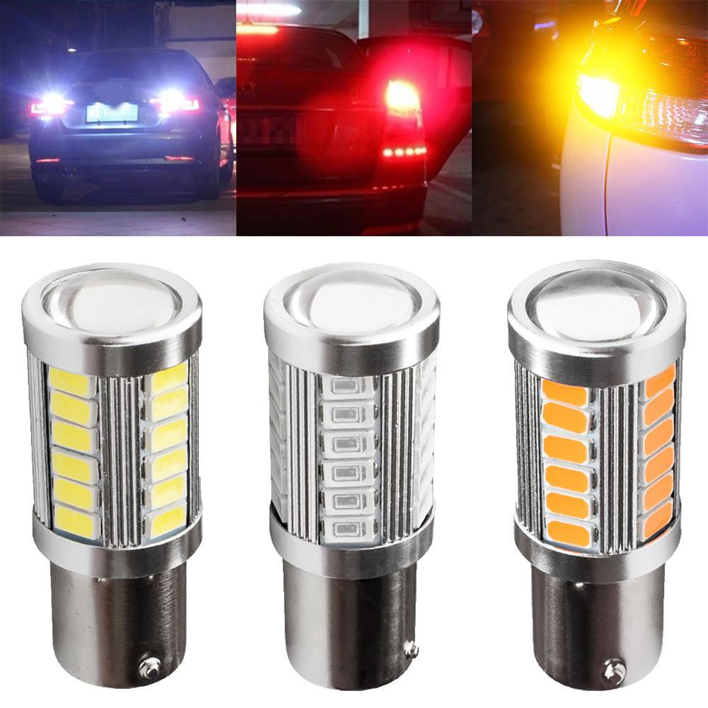 BA15S 1156 P21W 33-LED SMD 5730 NO ERROR Car Tail Bulb Brake Light Backups Reverse Lamp White Yellow 12V