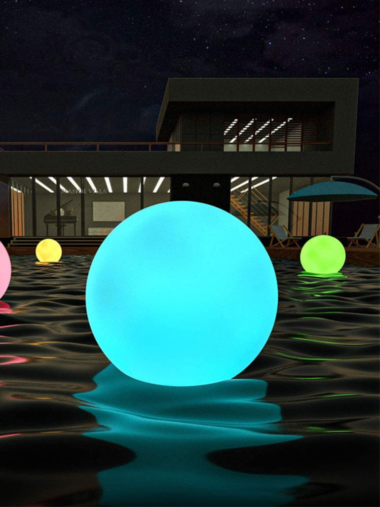 Solar Floating Pool Lights, Inflatable Waterproof LED Solar Glow Globe/Floating Ball Light Outdoor Color Changing LED Night Lamp enlarge
