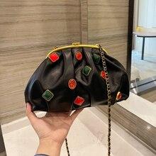 2021 Top Quality CC Cloud Bag Woman 100% Genuine Leather Luxury Chain Shoulder Bag Fashion Designer