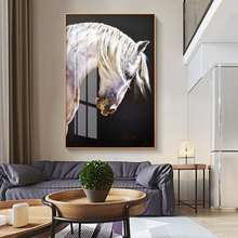 Modern Wall Pictures for Living Room Stronge Horse Canvas Art Posters and Prints Soft Eyes Canvas Painting Art Home Decoration