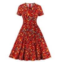 mixinni new fashion print v neck short sleeved dress tempting son 2121