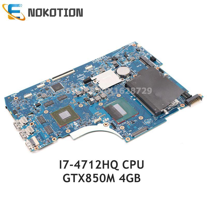 NOKOTION 765736-501 765736-001, placa base para ordenador portátil HP Envy 15-Q 15-Q001TX, CPU I7-4712HQ de 15,6 pulgadas GTX850M, 4GB, GPU