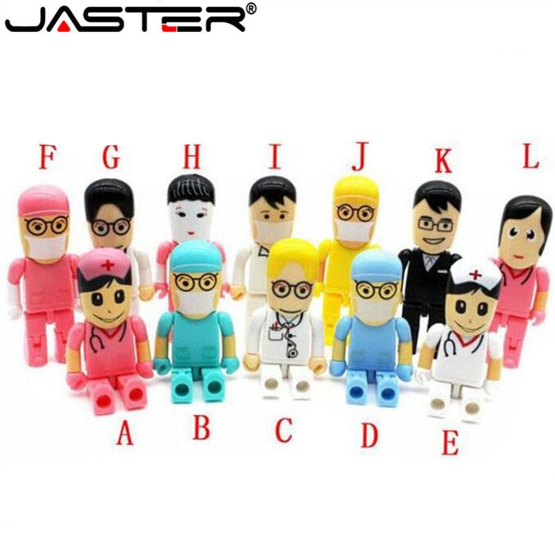 JASTER мини-доктор-медсестра USB флэш-накопитель дантист ручка-накопитель подарок мультфильм pendrive 4 ГБ/8 ГБ/16 ГБ/32 ГБ/64 Гб u-диск оптовая продажа