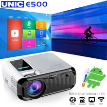 E500 WIFI Android projecteur Full HD projecteur 1280*800 7000lumens cinéma Proyector projecteur pour Android WiFi hdmi VGA AV port USB