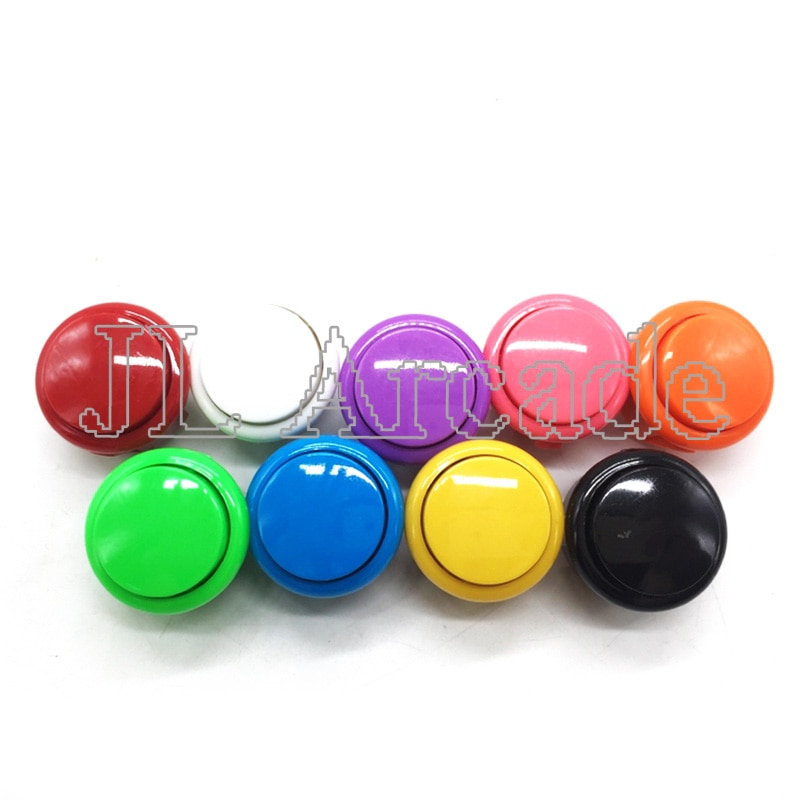 10 pcs Arcade 30mm Round Button Copy SANWA OBSF-30 Push Button JAMAE MAME DIY Parts