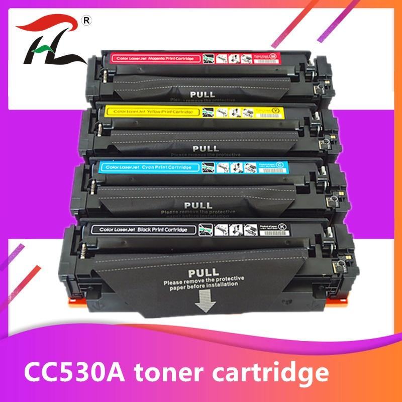 YLC repuestos de cartucho de tóner Compatible CF540A CF541A CF542A CF543A CF540 H P Laserjet M254 M254nw M254dw MFP M281fdw M281fdn M280nw
