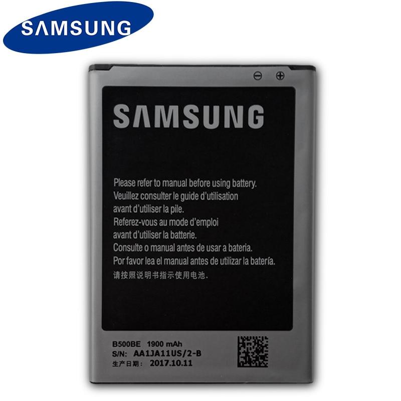 Samsung 100% Original Batterie B500BE Für Samsung Galaxy S4 Mini i9192 i9195 i9190 i9198 Ersatz Telefon Batterie B500AE 1900mAh
