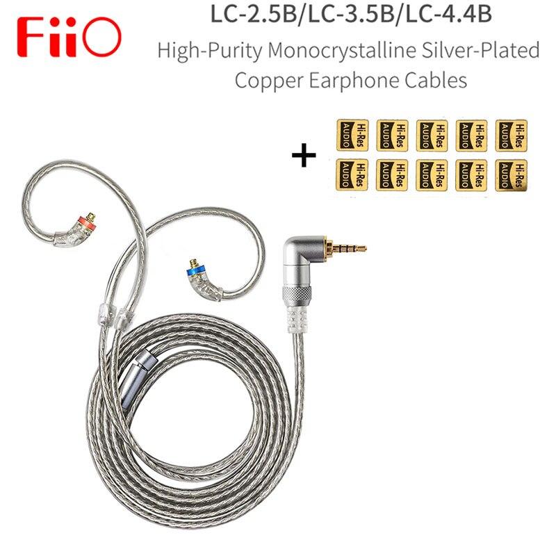FIIO LC-2.5B LC-3.5B LC-4.4B MMCX سماعة استبدال كابل 4 فروع من عالية النقاء المزروعة الفضة أورينت كابل 1.2m