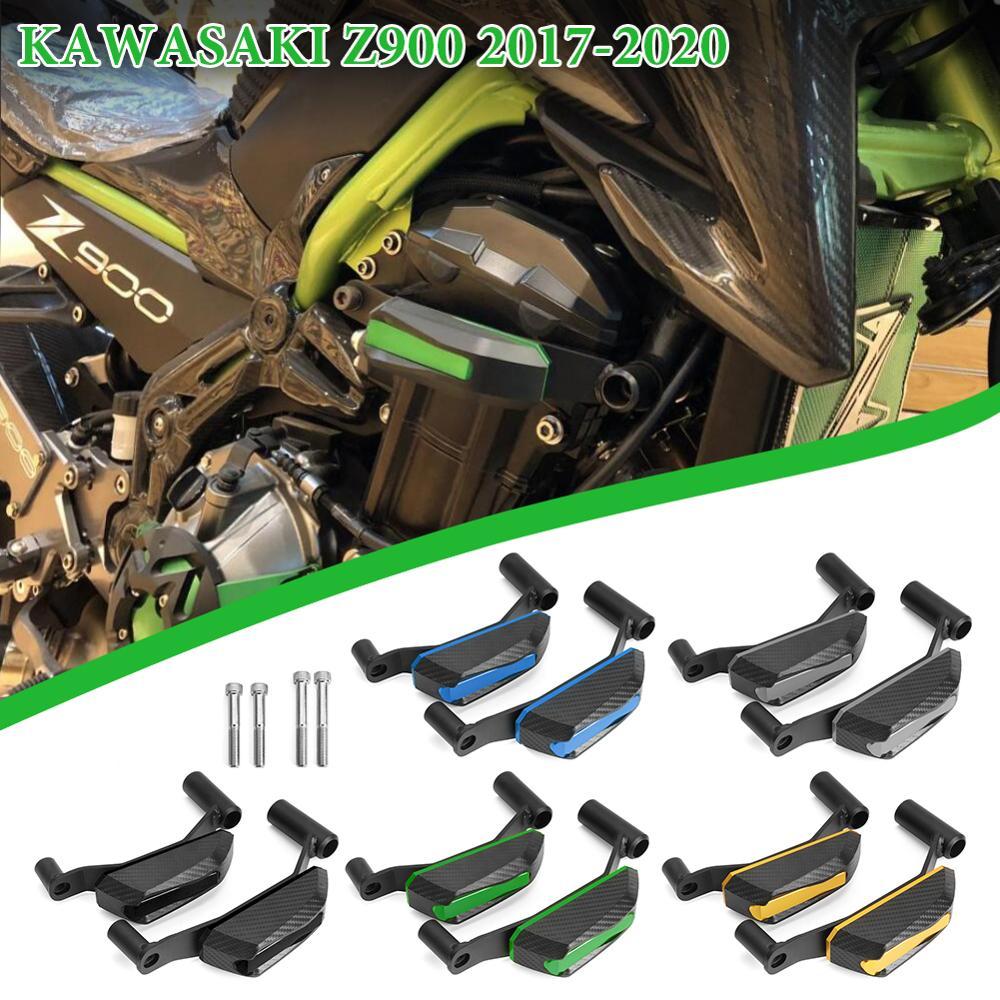 Para Kawasaki Z 900 2017 2018 2019 2020 Quadro Slider Motor Z900 Guard Protector Case Capa Crash Pad Acessórios Da Motocicleta nova