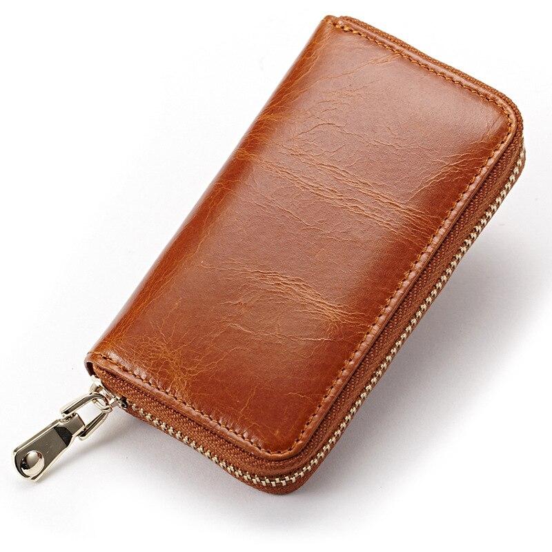 محفظة جلدية أصلية لمفاتيح السيارة, محفظة من الجلد الطبيعي لحفظ وتنظيم المفاتيح والمجوهرات