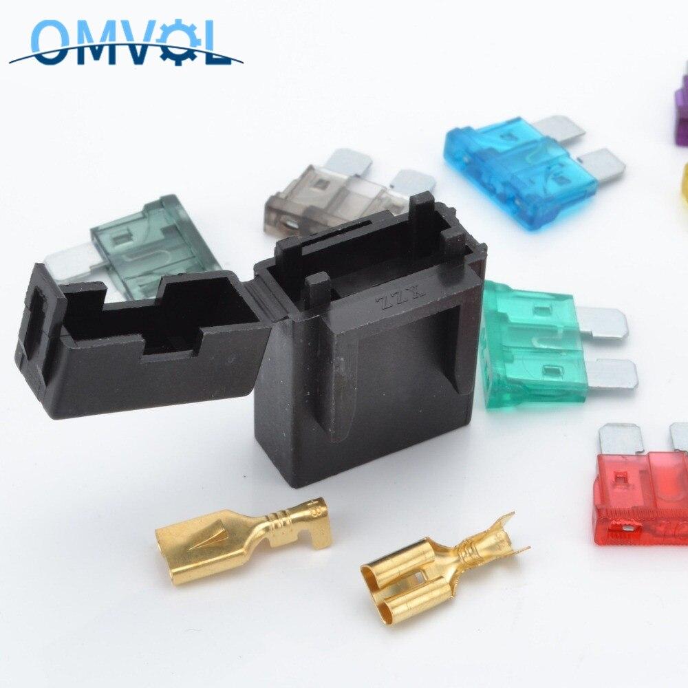 5 Juegos De portafusibles con Terminal de crimpado fusible medio para conector automático de coche
