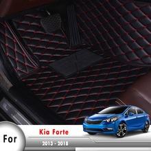 Alfombras de pie para Interior de coche, felpudos personalizados, alfombrillas de protección para coche para KIA Cerato Forte YD 2013 2014 2015 2016 2017 2018