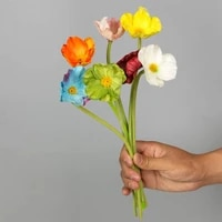 10pcs single branch pu poppy flowers for home decoration accessories flower arrangement wedding bouquet decor marriage