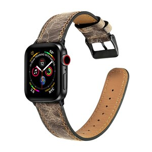 Genuine Leather strap for apple watch band 44mm 40mm 42mm 38mm apple watch 5/4/3/2/1 iwatch bracelet smart watch Accessories