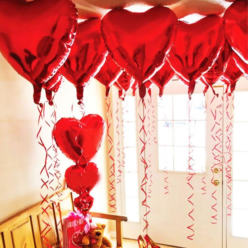 Globos de helio de seguridad, suministros coloridos para fiestas, venta al por mayor, decoración de corazón para bodas, bolas de aluminio, globos creativos cálidos para cumpleaños