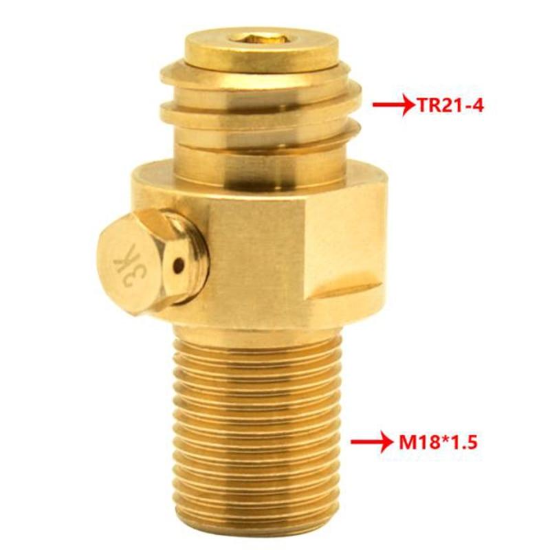 Para válvula de CO2 pasador SodaStream M18 * 1,5 M18 adaptador de latón Enchapado en superficie