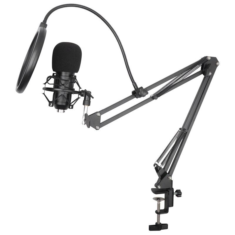 BM-800 набор микрофонов, 360 Celsiusantilever кронштейн 192 кГц/24 бит высокая частота дискретизации компьютера USB микрофон набор