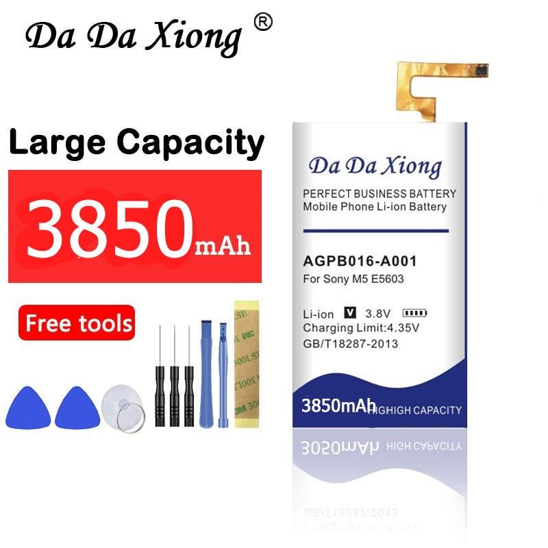 3850 мАч AGPB016-A001 батарея для Sony Xperia M5 батарея M 5 E5603 E5606 E5653 E5633 E5643 E5663 E5603 E5606 Новинка Высокое качество