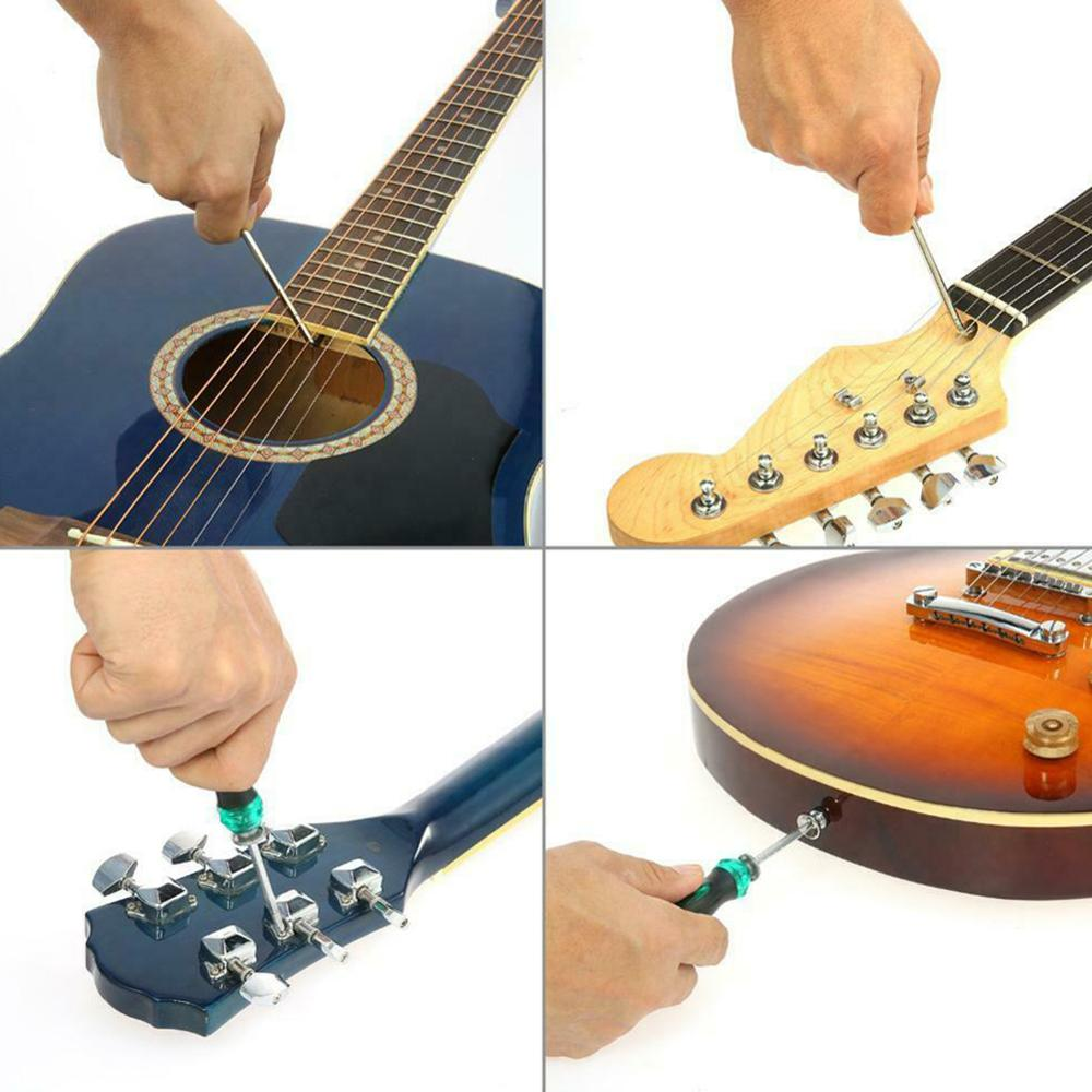 Guitar Tool Set Guitarra Care Cleaning Repair Luthier Maintenance String Replacement Tool Kit for Musical Instrument Accessories enlarge