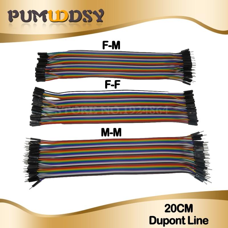 120 piezas 40pin 20CM Dupont línea macho a macho + hembra y hembra a hembra puente Dupont Cable de alambre para Arduino DIY KIT
