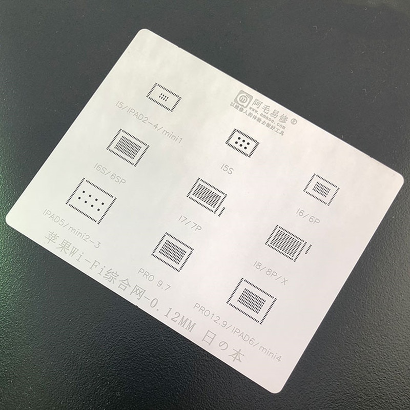 Amaoe bga reballing estêncil para iphone 5 5S 6 7 8 x ipad ar 1 ar 2 wifi chip ic