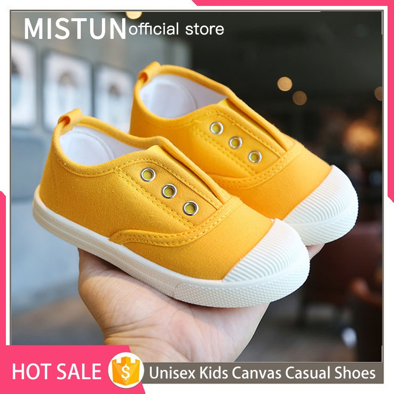 2021 Autumn new children's canvas shoes for boys and girls solid soft sole baby toddler shoes casual breathable sports shoes