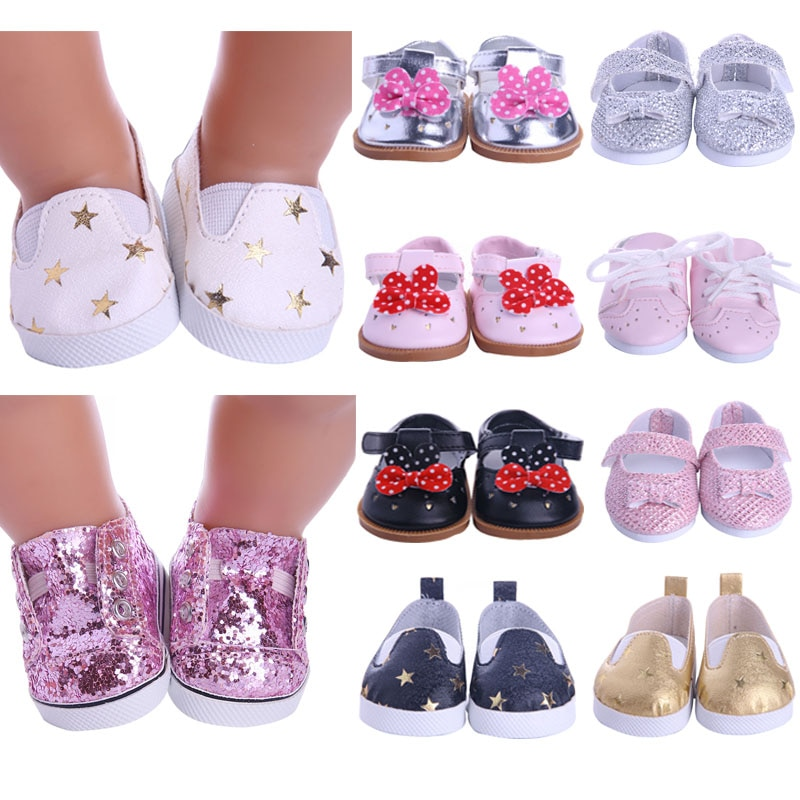 Doll Shoes Clothes Handmade Boots 7Cm Shoes For 18 Inch American&43Cm Baby New Born Doll Accessories