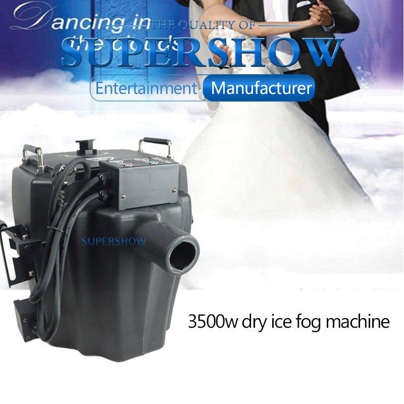 3500 واط الجاف الجليد آلة الضباب المرحلة تأثير ماكينة عمل الثلج منخفضة الكذب آلة لصنع الدخان ل Dj حفلات الزفاف