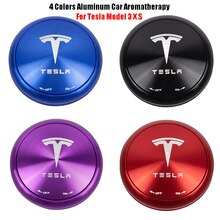 Für Tesla Modell 3 X S Aluminium Auto Aromatherapie Feste aromatherapie 4 Farben
