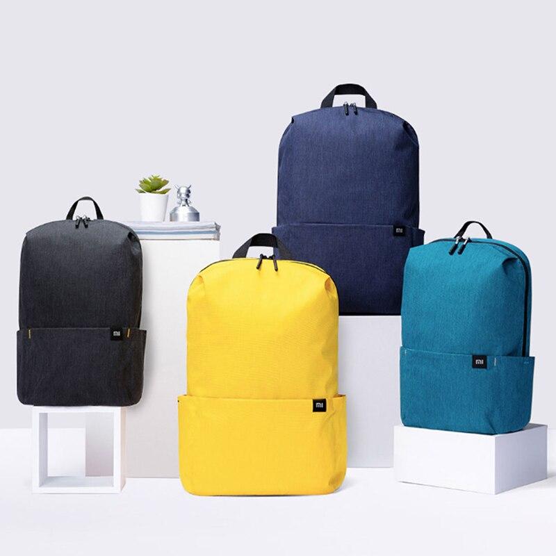 Рюкзак Xiaomi для мужчин и женщин, маленький яркий повседневный городской дорожный ранец унисекс, объем 10 л, оранжевый желтый, для мальчик…
