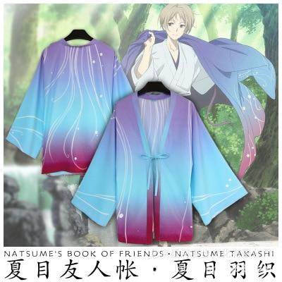 "Hot Japanese Anime Natsume Takashi inherited ""The Book of Friends"" 10th Anniversary Man Cosplay Costume Coat"