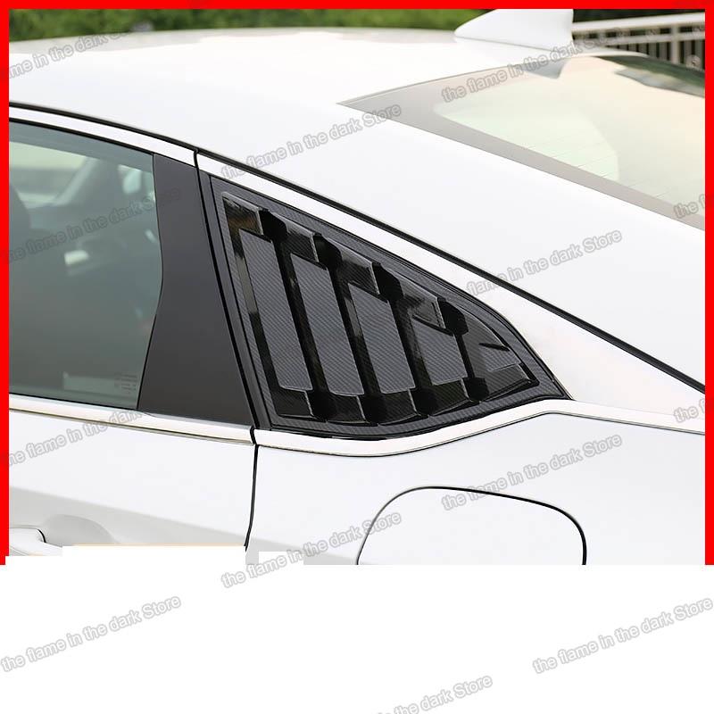 Lsrtw2017 Abs Panel de obturador de ventanilla trasera de triángulo para honda accord 2018 2019 2020 10th 2018 2019 2020 fibra de carbono auto