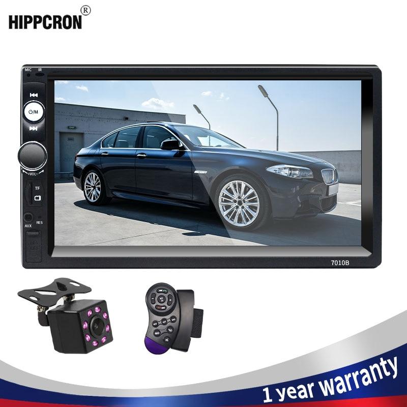 """Автомобильный радиоприемник Hippcron, стерео-система с поддержкой Bluetooth, с 7 """"сенсорным экраном, FM-радио, mp5-плеером, SD USB, с/без камеры, типоразмер 2 Din"""