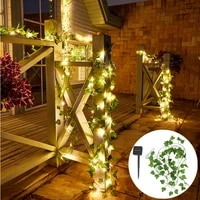 fairy string light 50100 led leaf garland solar led light outdoor christmas waterproof solar lights for garden decoration lamp