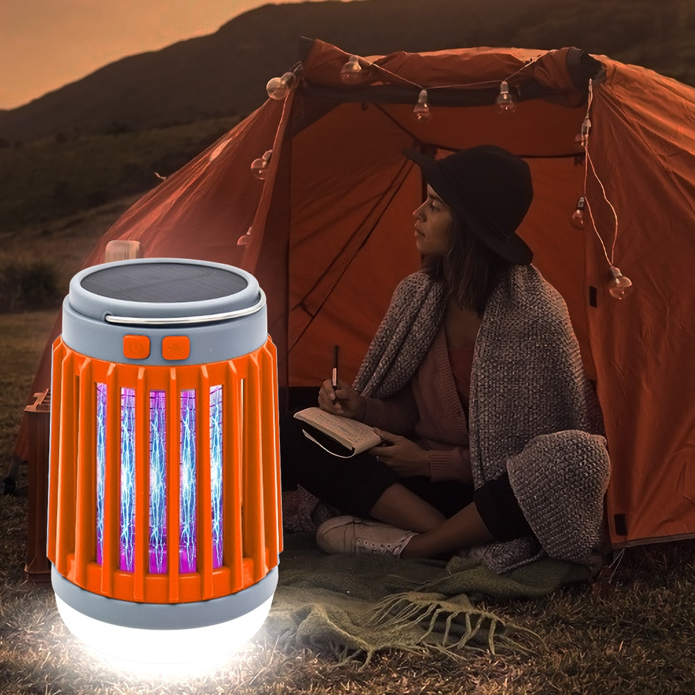 Outdoor portable electric fly killer solar model electric fly killer pest USB outdoor waterproof lamp control catcher fly trap