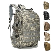 45l large capacity outdoor tactical backpack molle army military assault bags camouflage trekking hunting camping hiking bag
