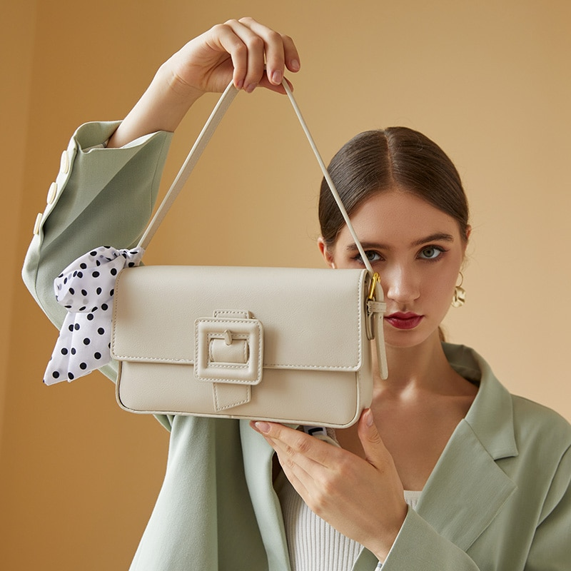 2021 New Trendy Texture Silk Scarf Western Style Handbag Fashion Summer Messenger Bag Casual One-sho