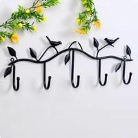 birds metal wall coat rack and hat rack multi function mounted hook hangers for livingroom bedroom decorative hook up