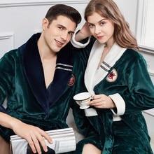 Ultra longue chemise de nuit en flanelle homme vêtements de nuit corail polaire Kimono Robe grande taille 3XL 4XL peignoir épaissir chaud vêtements de nuit