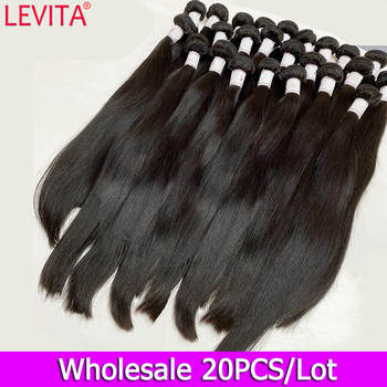 10A Grade 100% Human Hair Bundles Wholesale Straight Bundles Deals Weft Hair Extension Peruvian Brazilian Hair Weave Bundles