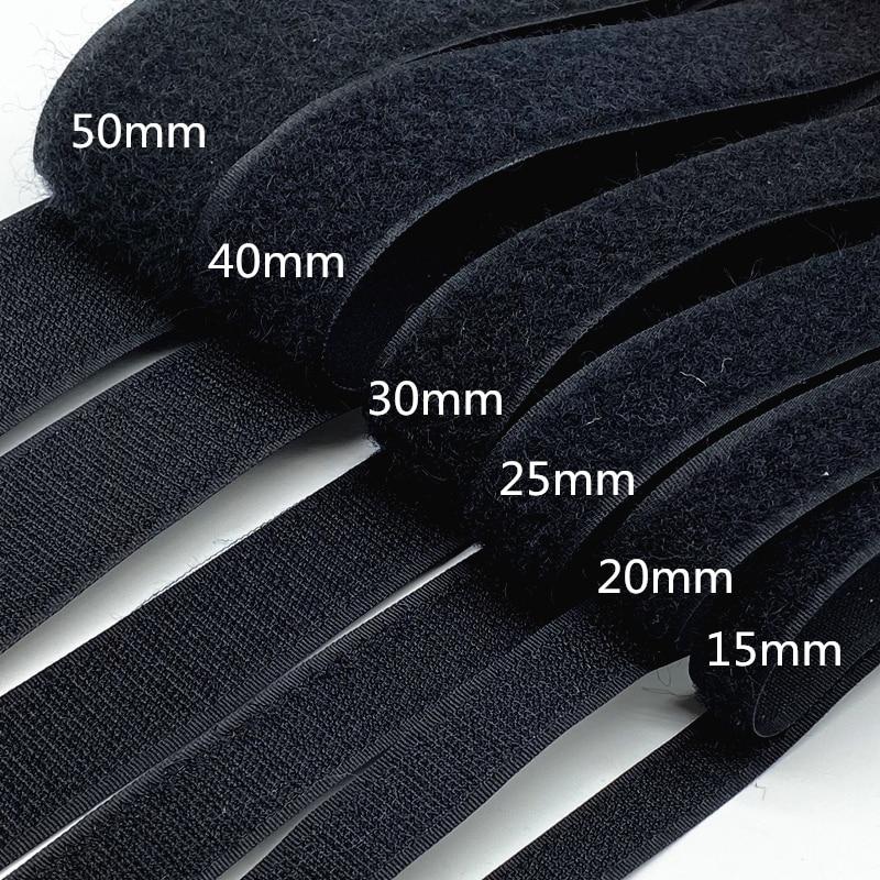 1 par 15mm-50mm negro blanco con cinta ajustable Velcros gancho y cinta...