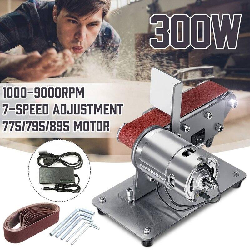 ماكينة صنفرة كهربائية 300 وات ، ماكينة صنفرة بسير 90 درجة ، ملمع ، حافة قابلة للطي