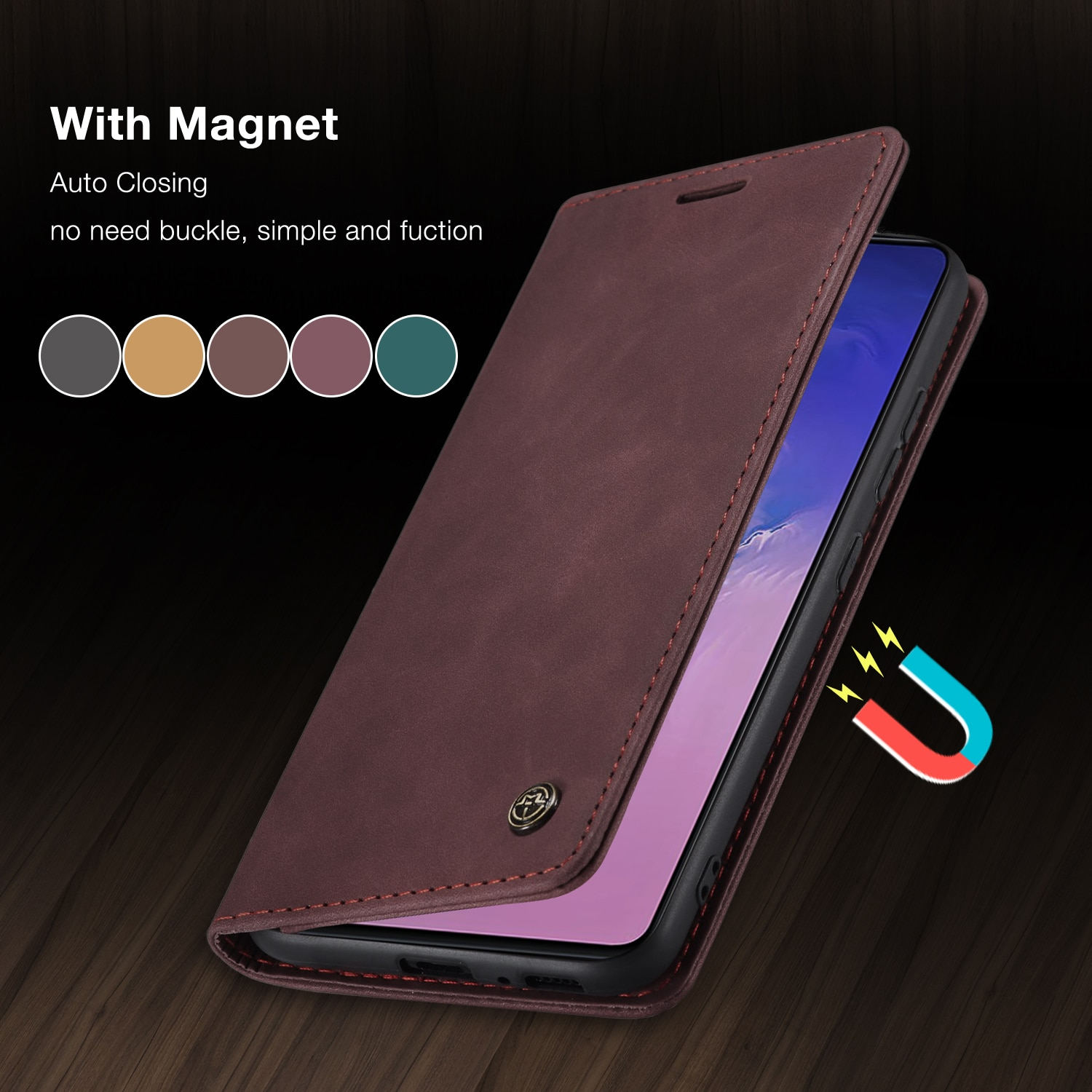 Luxury Leather Case For Xiaomi Redmi Note 8 9 K30 Pro Magnetic Flip Card Holder Phone For Xiaomi Mi